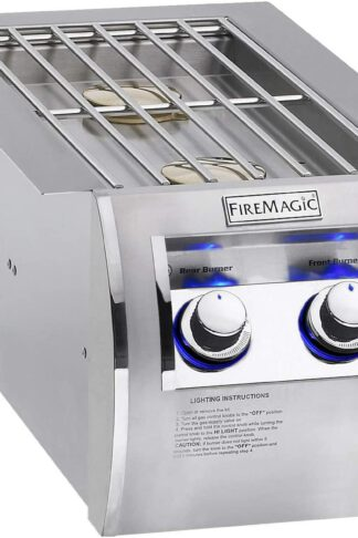 Fire Magic Echelon Diamond Natural Gas Built-in Double Side Burner - 32814