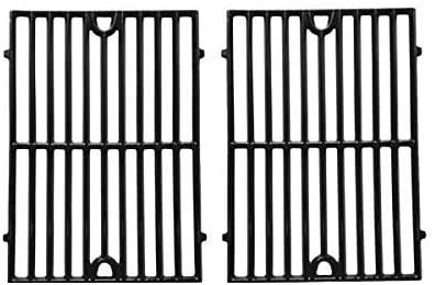 Gloss Cast Iron Replacement Cooking Grid for Kenmore, Hamilton Beach 84131, 84131C, Vermont Castings CF9030, Grand Cafe GC1000 and Ellipse 2000LP Gas Grill Models, Set of 2