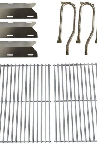 Hongso Jenn Air Gas Grill 720-0336 Replacement KIT Grill Burners, Heat Plates&Cooking Grid (SBC361-SPA231-SCF3S2)
