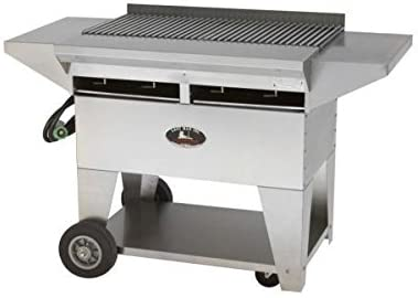 Lazy Man Model A2 Elite Natural Gas Stainless Steel Gourmet Series Mobile Grill
