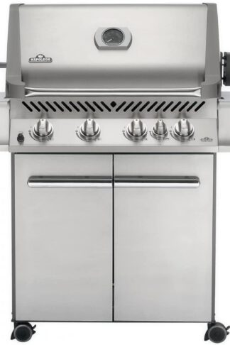 Napoleon P500RBNSS Prestige Gas Grill with Rear Burner Stainless Steel Doors and Lid