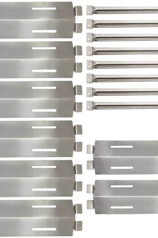 Sunshineey Replacement Parts Stainless Steel Grill Burners & Heat Plates Shield for Bakers and Chefs GR2039201-BC-00, GD430, ST1017-012939, Grill Chef, Members Mark GR2039201-MM-00 Gas Grill Models