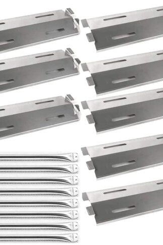 Votenli S9328A (8-Pack) S1025A (8-Pack) Stainless Steel Grill Burners,Heat Plates Replacement for Bakers and Chefs Grill Parts GR2039201-BC-00, GD430, ST1017-012939