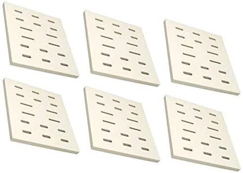 bbqGrillParts Ceramic Flame Tamers for Select Member's Mark, Bakers & Chefs 608SB, 9803S, 9905TB, 9912T, Y0005XC-1 & SAMS MONARCH04ANG, MONARCH04BNG Gas Models 6 Pack