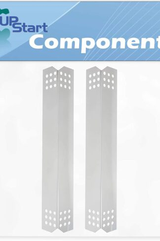 2-Pack BBQ Grill Heat Shield Plate Tent Replacement Parts for Jenn Air 730-0709 - Compatible Barbeque Stainless Steel Flame Tamer, Guard, Deflector, Flavorizer Bar, Vaporizer Bar, Burner Cover 16 1/8""