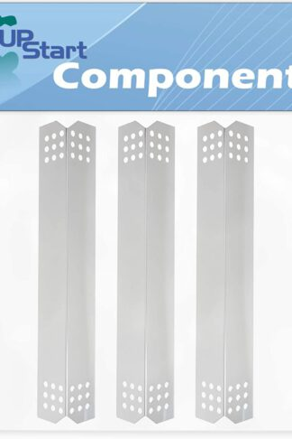 3-Pack BBQ Grill Heat Shield Plate Tent Replacement Parts for Jenn Air 720-0727 - Old - Compatible Barbeque Stainless Steel Flame Tamer, Flavorizer Bar, Vaporizer Bar, Burner Cover 16 1/8""