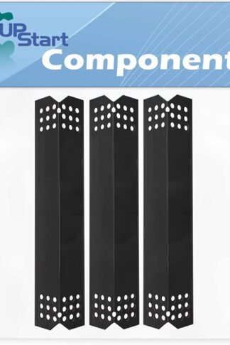 3-Pack BBQ Grill Heat Shield Plate Tent Replacement Parts for Members Mark 720-0830F - Compatible Barbeque Porcelain Steel Flame Tamer, Guard, Deflector, Flavorizer Bar, Vaporizer Bar, Burner Cover