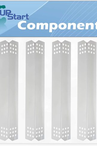4-Pack BBQ Grill Heat Shield Plate Tent Replacement Parts for Jenn Air 720-0709B - Old - Compatible Barbeque Stainless Steel Flame Tamer, Flavorizer Bar, Vaporizer Bar, Burner Cover 16 1/8""
