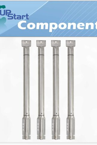UpStart Components 4-Pack BBQ Gas Grill Tube Burner Replacement Parts for Centro 85-1614-2, 2800 LP (2008) - Compatible Barbeque Stainless Steel Pipe Burners