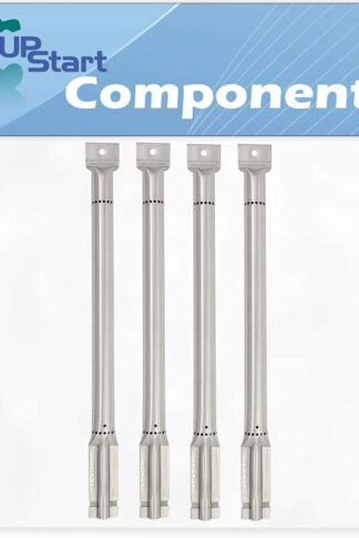 UpStart Components 4-Pack BBQ Gas Grill Tube Burner Replacement Parts for Kirkland 730-0432 - Compatible Barbeque Stainless Steel Pipe Burners