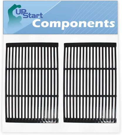 UpStart Components 2-Pack BBQ Grill Cooking Grates Replacement Parts for Charmglow 810-2320 - Compatible Barbeque Porcelain Enameled Cast Iron Grid 19""