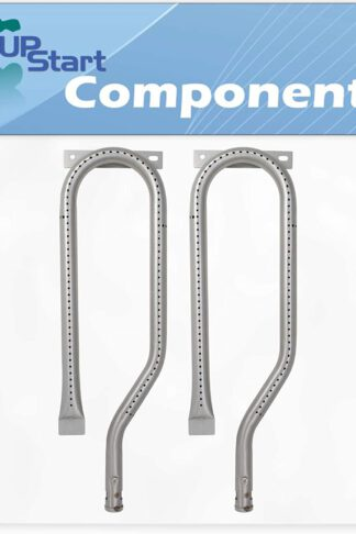 "UpStart Components 2-Pack BBQ Gas Grill Tube Burner Replacement Parts for Jenn Air 750-0141 - Compatible Barbeque 15 3/4"" Stainless Steel Pipe Burners"