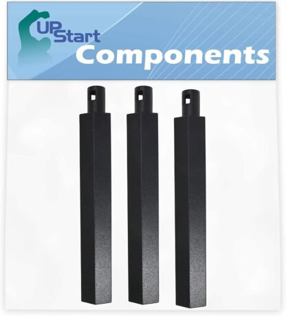 """UpStart Components 3-Pack BBQ Gas Grill Tube Burner Replacement Parts for Jenn Air 730-0163 - Compatible Barbeque 16"""" Cast Iron Pipe Burners"""