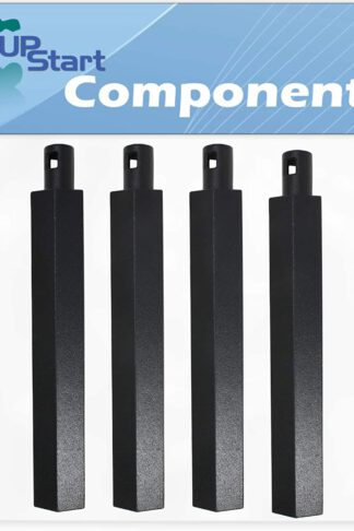 "UpStart Components 4-Pack BBQ Gas Grill Tube Burner Replacement Parts for Jenn Air 720-0100-NG - Compatible Barbeque 16"" Cast Iron Pipe Burners"