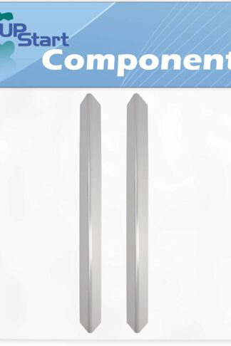 2-Pack BBQ Grill Heat Shield Plate Tent Replacement Parts for Weber 3741001 - Compatible Barbeque Stainless Steel Flame Tamer, Guard, Deflector, Flavorizer Bar, Vaporizer Bar, Burner Cover 24 1/2""