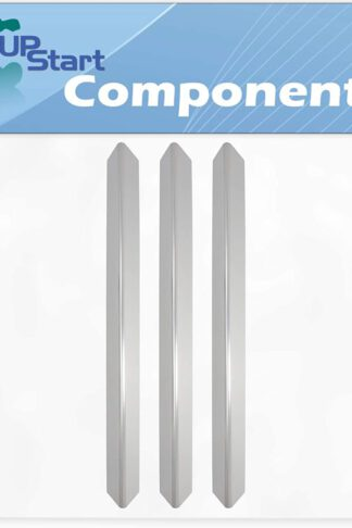 3-Pack BBQ Grill Heat Shield Plate Tent Replacement Parts for Weber 93750201 - Compatible Barbeque Stainless Steel Flame Tamer, Guard, Deflector, Flavorizer Bar, Vaporizer Bar, Burner Cover 24 1/2""