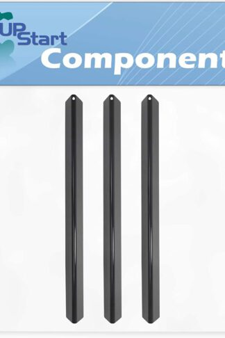 3-Pack BBQ Grill Heat Shield Plate Tent Replacement Parts for Weber GENESIS SILVER A NG SWE MICA W/HANDLE (2002-2003) - Compatible Barbeque Porcelain Steel Flavorizer Bar, Burner Cover 21.5""
