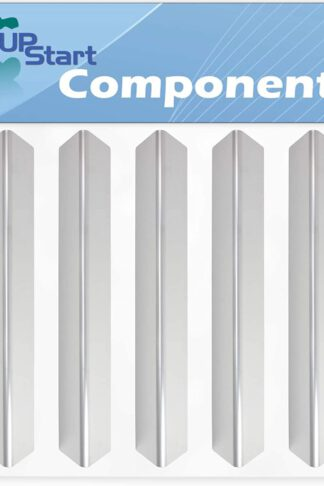 5-Pack BBQ Grill Heat Shield Plate Tent Replacement Parts for Weber 46700401 - Compatible Barbeque Stainless Steel Flame Tamer, Guard, Deflector, Flavorizer Bar, Vaporizer Bar, Burner Cover 15 5/16""