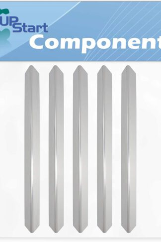 5-Pack BBQ Grill Heat Shield Plate Tent Replacement Parts for Weber 93741701 - Compatible Barbeque Stainless Steel Flame Tamer, Guard, Deflector, Flavorizer Bar, Vaporizer Bar, Burner Cover 24 1/2""