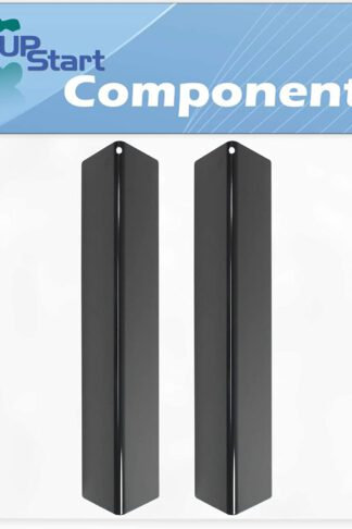 2-Pack BBQ Grill Heat Shield Plate Tent Replacement Parts for Weber 46100001 - Compatible Barbeque Porcelain Steel Flame Tamer, Guard, Deflector, Flavorizer Bar, Vaporizer Bar, Burner Cover 15 1/4""