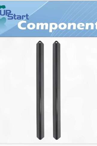 2-Pack BBQ Grill Heat Shield Plate Tent Replacement Parts for Weber 651201 - Compatible Barbeque Porcelain Steel Flame Tamer, Guard, Deflector, Flavorizer Bar, Vaporizer Bar, Burner Cover 21.5""