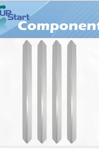 4-Pack BBQ Grill Heat Shield Plate Tent Replacement Parts for Weber 3841301 - Compatible Barbeque Stainless Steel Flame Tamer, Guard, Deflector, Flavorizer Bar, Vaporizer Bar, Burner Cover 24 1/2""