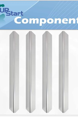 4-Pack BBQ Grill Heat Shield Plate Tent Replacement Parts for Weber 6611001 - Compatible Barbeque Stainless Steel Flame Tamer, Guard, Deflector, Flavorizer Bar, Vaporizer Bar, Burner Cover 17.5""