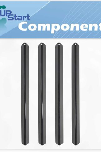 4-Pack BBQ Grill Heat Shield Plate Tent Replacement Parts for Weber GENESIS SILVER A LP SWE (2002-2003) - Compatible Barbeque Porcelain Steel Flame Tamer, Flavorizer Bar, Burner Cover 21.5""