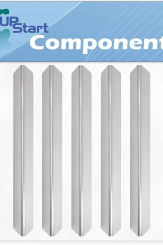 5-Pack BBQ Grill Heat Shield Plate Tent Replacement Parts for Weber 6519009 - Compatible Barbeque Stainless Steel Flame Tamer, Guard, Deflector, Flavorizer Bar, Vaporizer Bar, Burner Cover 17.5""