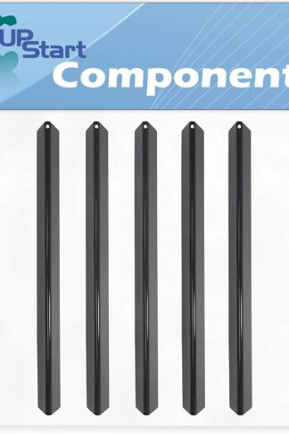 5-Pack BBQ Grill Heat Shield Plate Tent Replacement Parts for Weber GENESIS SILVER A NG SWE (PORC) CI GRATES (2004) - Compatible Barbeque Porcelain Steel Flavorizer Bar, Burner Cover 21.5""