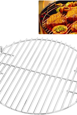 CHARAPID Stainless Steel Grill Grate, Round Cooking Grid for Classic Kamado Grills - 18""