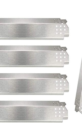 Grill Replacement Parts for Nexgrill 5 Burner 720-0888, 720-0888N, Home Depot Nexgrill 720-0830H, Stainless Steel Grill Heat Plates Shield Tent, Burner Cover, Flame Tamer, Flavor Bar, 5 Pack
