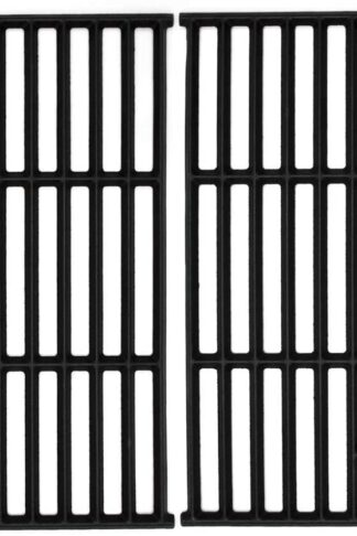 Hongso 17 1/4 Inch Cast Iron Cooking Grid Grates Replacement Parts for Nexgrill 720-0649, Members Mark 720-0691A, 720-0778A, Aussie 6703C8FKK1, Brinkmann 810-9490-F Backyard Gas Grill, 2-Pack PCD252