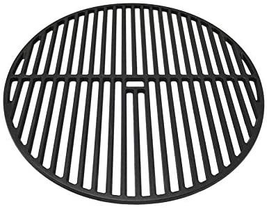 "Premium Cast Iron Cooking Grate 18-3/16"" for Large Big Green Egg, Vision Grills VGKSS-CC2 Classic Kamado Charcoal Grill and Broil King Keg 4000"