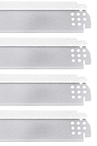 Rejekar 14.6 inches Heat Plates for Home Depot Nexgrill 5 Burner 720-0888, 720-0888N Gas Grill, Stainless Steel Grill Heat Shield Tent, Flame Tamer, Burner Cover, Flavor Bar Replacement Parts, 5 Pack