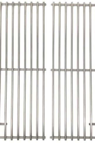 SKEMIX Stainless Steel Replacement Cooking Grid for Select Gas Grill Models by Jenn-Air, Perfect Glo, Glen Canyon, Permasteel, Nexgrill and Others, Set of 2