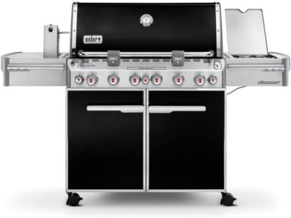 Weber 7371001 Summit E-670 6-Burner Liquid Propane Grill, Black