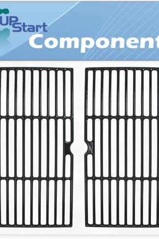 UpStart Components 2-Pack BBQ Grill Cooking Grates Replacement Parts for Centro 85-1210-2 - Compatible Barbeque Cast Iron Grid 16 3/4""