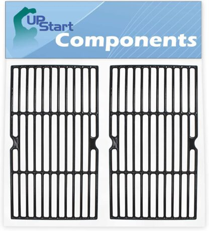 """UpStart Components 2-Pack BBQ Grill Cooking Grates Replacement Parts for Centro G40202 - Compatible Barbeque Cast Iron Grid 16 3/4"""""""