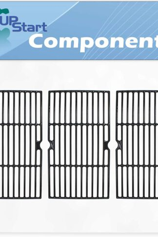 UpStart Components 3-Pack BBQ Grill Cooking Grates Replacement Parts for Centro 85-1095-6 - Compatible Barbeque Cast Iron Grid 16 3/4""