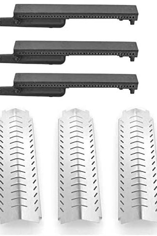 Grill Parts Gallery Replacement Kit for Costco 463230703, 463241205, 463242304, 464246004, Charbroil 461230403, Thermos & Front Avenue 466242404 Includes 3 Heat Shields and 3 Cast Iron Burners