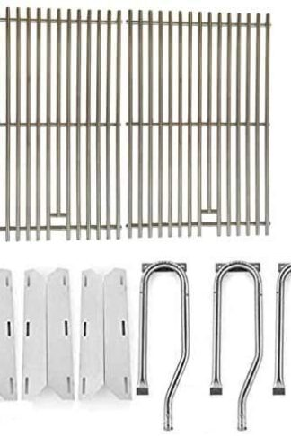 Grill Parts Zone Jenn Air 720-0336, 7200336, 720 0336 Repair Kit Includes 3 Stainless Burner, 3 Stainless Heat Plates and Stainless Cooking Grates