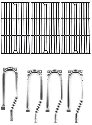 Repair Kit for Jenn Air 720-0337, 7200337, 720 0337 BBQ Gas Grill Includes 4 Stainless Burner and Porcelain Cooking Grates