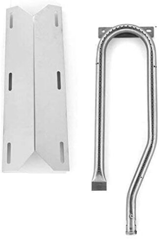 Repair Kit for Jenn Air 720-0337 BBQ Gas Grill Includes 1 Stainless Burner and 1 Stainless Heat Plate