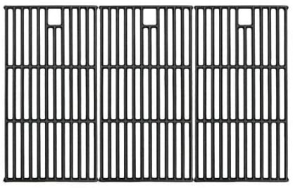 """Hisencn Grill Grates for Brinkmann 810-8501, Charmglow 720-0125, Jenn Air 720-0337, Nexgrill 720-0003, Perfect Flame Gas Grill Models, 19 1/4"""" Cast Iron Cooking Grid Replacement Parts"""