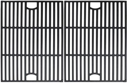 Uniflasy Cast Iron Cooking Grate Replacement for Nexgrill 4 Burner 720-0830H, 720-0670A, 720-0783E, 5 Burner 720-0888N, Replacement for Kenmore 41516106210 415.16106210, Uniflame GBC981, 17 Inches