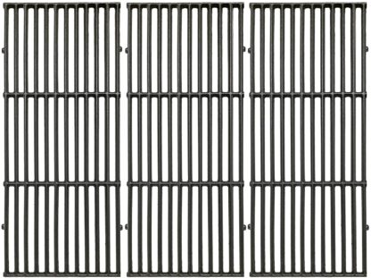 Votenli C6522C(3-Pack) Cast Iron Cooking Grid Grates Replacement for Brinkmann 810-8500-S, 810-8501-S, 810-8502-S, Charmglow 720-0396, 720-0536, 720-0578, 810-8500-S