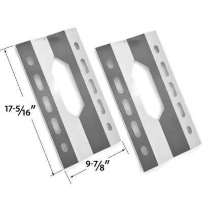 REPLACEMENT 2 PACK STAINLESS STEEL HEAT SHIELD FOR GLEN CANYON 720-0026-LP, 720-0152-LP, KIRKLAND 720-0108 AND STERLING FORGE 720-0016 GAS GRILL MODELS