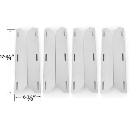 REPLACEMENT STAINLESS STEEL 4 PACK HEAT SHIELD FOR NEXGRILL 681955, 720-0074, 720-0093, 720-0096, 720-0101, 720-0145, 730-0512, 720-0145, 738505, 720-0026, 720-0061, 720-0062, 720-0063 GAS GRILL MODELS