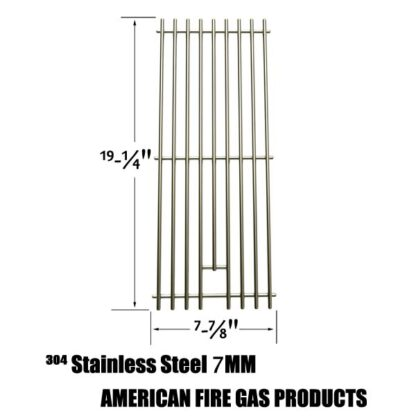 STAINLESS STEEL COOKING GRATES REPLACEMENT FOR NEXGRILL 720-0584A, 720-0008-T, 720-033 AND PERFECT FLAME 720-0335, 730-0335 GAS GRILL MODELS